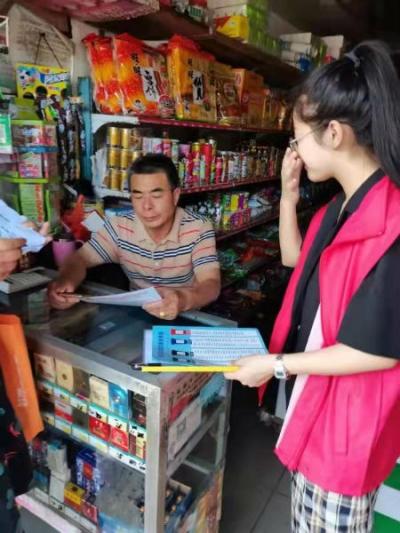 南昌市湾里管理局太平镇开展沿街商铺垃圾分类宣传活动