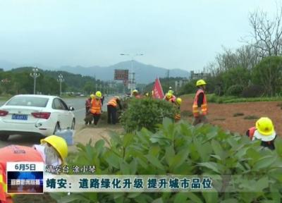 靖安:道路绿化升级 提升城市品位