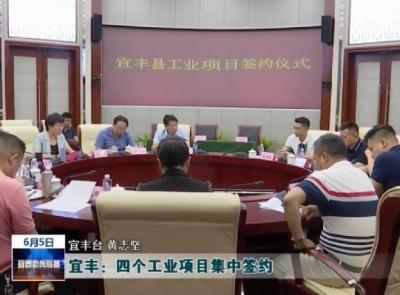 宜丰:四个工业项目集中签约