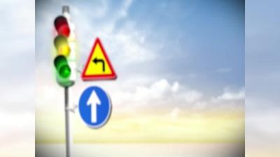 高安交警開展工程車盲區體驗交通安全教育
