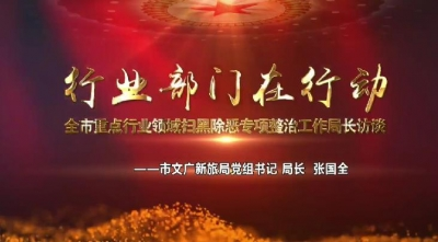 行業部門在行動——市文廣新旅局黨組書記 局長 張國全