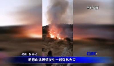 明月山溫湯鎮發生一起森林火災