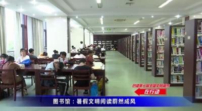 圖書館:暑假文明閱讀蔚然成風