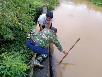 县田南水库管理局  全力做好灌区防汛抢险工作