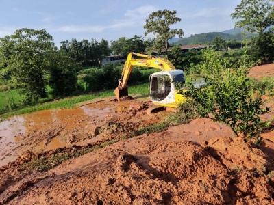 黄泥埠迅速开展灾后水利工程修复工作