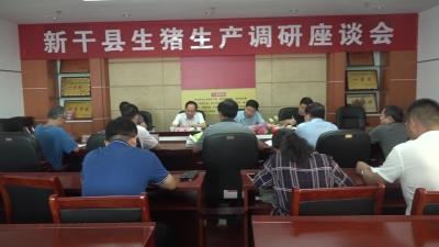 新干县生猪生产调研座谈会
