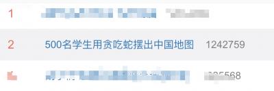 """这很中国!高校师生操场表演""""贪吃蛇"""",最后亮了"""