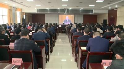 我县组织收听收看省委宣讲团党的十九届五中全会精神报告会