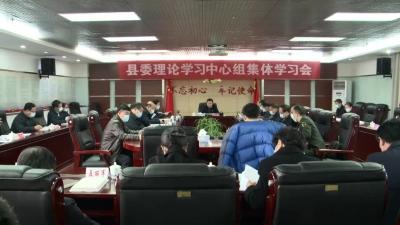 县委理论学习中心组开展集体学习