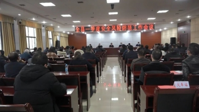 胡军主持召开一季度安全风险防范工作会议 