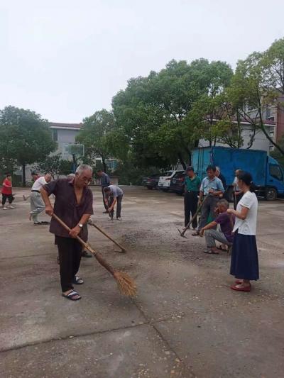 黎山林场老年党支部开展环境综合整治活动