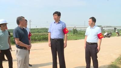 副市长朱新堂到我县开展巡河活动