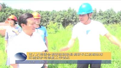 市人大常委会调研组到我县调研长江流域生态环境保护与修复工作