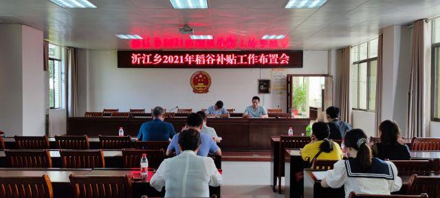 沂江乡开展2021年稻谷补贴面积核实工作