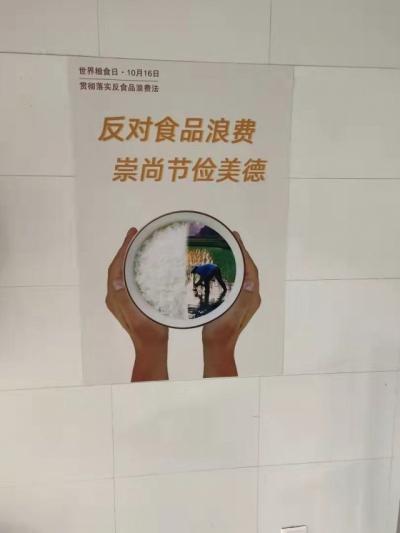 城上乡卫生院关于世界粮食日宣传活动