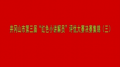 """井冈山市第三届""""红色小讲解员""""评优大赛决赛集锦(三)"""