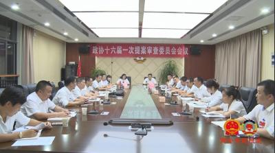 县政协十六届一次会议提案审查委员会会议召开