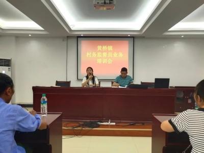 黄桥镇召开村务监督员、村级纪检员、监察联络员业务培训会