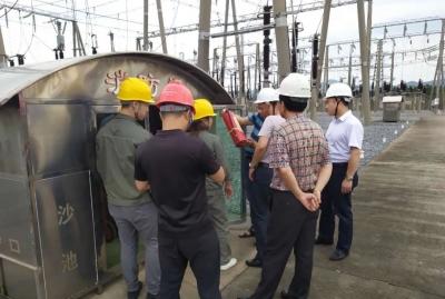 市能源办到吉水县督察汛期电力运行安全保障工作