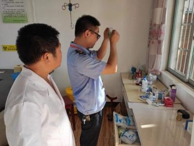 枫江镇政府对各村卫生室开展督查行动