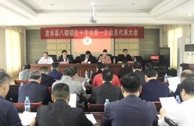 八都镇胜利召开红十字会第一次会员代表大会