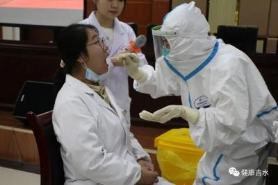 吉水县人民医院开展核酸检测采集咽拭子全员培训