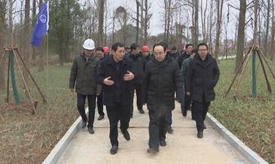 省生态环境厅党组书记、厅长徐延彬到我县调研