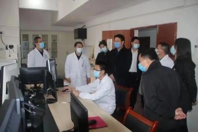 航天医科集团党群工作部部长赵党华一行来吉水考察