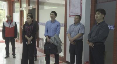 吕清峰率队到我县督导检查社区健康促进项目