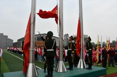 【网络中国节·清明】吉水二中举行缅怀先烈主题升旗活动