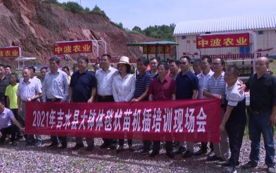 吉水县举行水稻大钵体毯状育秧及机插技术培训班
