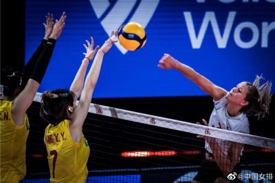 2021世界女排联赛 中国女排2-3憾负加拿大女排