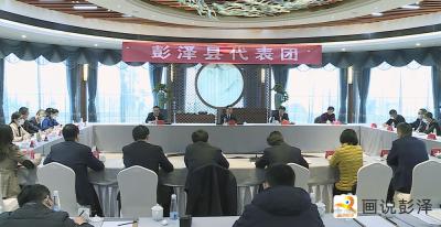 出席市十五届人大第七次会议的彭泽代表团继续举行分代表团活动