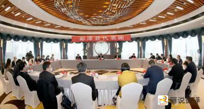 20210122出席市十五届人大第七次会议的彭泽代表团继续举行分代表团活动
