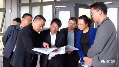 县委书记廖东生调研市民之家和县科技文化中心建设工作