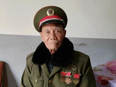红色名村 | 鹅峰百岁老兵忆抗战,曾生擒日本兵